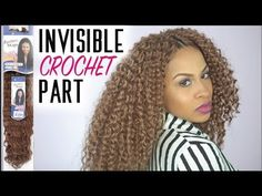 Crochet Braids w/Invisible Part - Step by Step Tutorial - Freetress Aruba Curl by SamsBeauty - YouTube