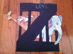 "Letter Z Craft: Cage at the Zoo -- sunday school theme Zoo/Zoe ""God designed the ZONE OF LIFE"" - Blissful Homemaking Preschool Letter Crafts, Alphabet Letter Crafts, Zoo Preschool, Preschool Projects, Alphabet Book, Classroom Crafts, Alphabet Activities, Kindergarten, Letter Art"