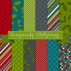 PRINTABLE HOMEMADE CHRISTMAS PAPERS Also has a ton of labels for food goodies at x-mas
