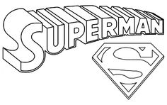 Superman Logo Coloring Pages - Colorine.net | #25555