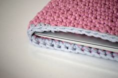 MacBook Air 13 sleeve stylish crochet tshirt yarn by WhiteLoop, $39.00