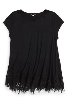 Ella Moss 'Rose' Scalloped Lace Top (Big Girls) available at #Nordstrom