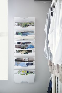 IKEA Fan Favorite: KVISSLE wall magazine racks. Great for organizing magazines, mail and documents.
