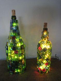 recycle wine bottles diys | Recycled Magnum Wine Bottle Lamp. $35.00.