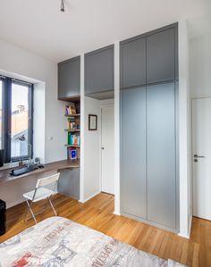dressing blanc sur mesure sans poign es avec syst me d 39 ouverture push to open les portes ne. Black Bedroom Furniture Sets. Home Design Ideas