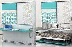 intelligente designs mit klappbett ausgeklügelt und platzsparend