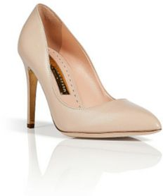 Rupert Sanderson 'Malory' pumps in nude kid leather