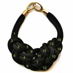 Animate a hacer este precioso collar de nudos