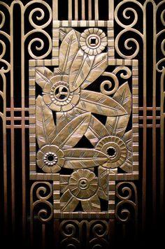 Art deco flower screen work - architectural detail from downtown Chicago Arte Art Deco, Motif Art Deco, Estilo Art Deco, Art Deco Pattern, Art Deco Design, Art Nouveau, Frise Art, Art Et Architecture, Design Industrial