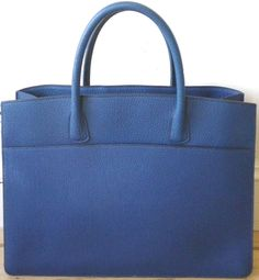 Hermes French Blue Leather Totebag Purse    beautiful blue