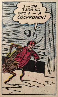 Metamorphosis by Franz Kafka Comic version. Old Comics, Vintage Comics, Funny Comics, Vintage Comic Books, Vintage Pop Art, Retro Art, Comic Books Art, Comic Art, Arte Punk