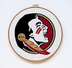 Florida State Seminoles Football Logo Counted Cross Stitch