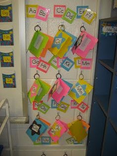 I like this idea...Mini File Folder Word Wall  To help make the word wall more user friendly I created mini wall walls!!  Inside each folder is a list of all the words, beginning with that letter, we will learn during the school year.