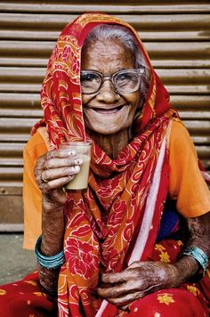 """""""a lady and her chai II"""" 