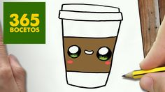 COMO DIBUJAR CAFE KAWAII PASO A PASO - Dibujos kawaii faciles - How to draw a COFFEE - YouTube
