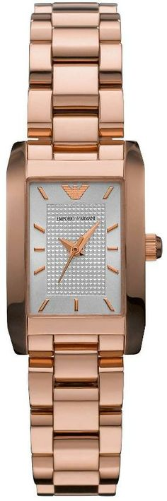 Shop Emporio Armani Rose Gold Ladies Watch free ground shipping, guaranteed authenticity, and a 30 day money-back guarantee. Rolex Watches, Watches For Men, Armani Watches, Ladies Watches, Stainless Steel Bracelet, Stainless Steel Case, Armani Rose, Birthday Wishes For Myself, Watch Brands