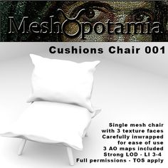 Meshopotamia Cushions chair 001 W AO textures