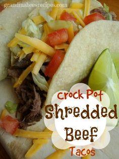 Crock Pot Shredded Beef Tacos on MyRecipeMagic.com