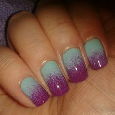 that would be so pretty with purple glitter