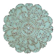 46-in Light Green Stamp Medallion Wall Décor