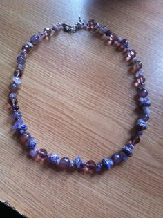 Amethyst necklace Unique amethyst necklace Neckline necklace by CristinaMyCrochet on Etsy