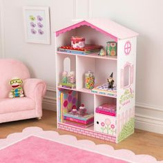 With our Dollhouse Bookcase, girls will have fun keeping their rooms tidy and organized. This cute furniture piece would make a great gift for any of the young