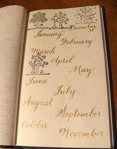 Just practicing the thin versus thin lines,.. using the months....and a few seasonal trees.