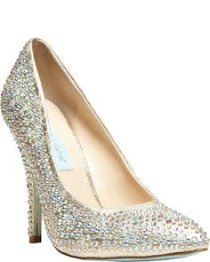 Wedding shoe: Blue by Betsey Johnson
