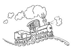 Top 26 Free Printable Train Coloring Pages Online | Coloring Pages ...