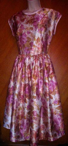 Latest Listing - handmade 1950s floral #VintageDress from original fabric, £40