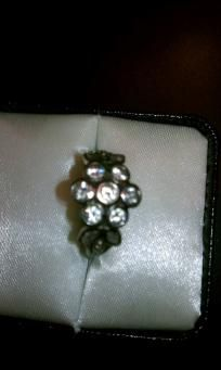 RING VINTAGE PURE STERLING .925 FLOWER RING