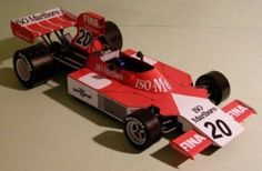F1 Paper Model - 1975 French GP Williams FW4 Paper Car Free Template Download