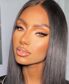 Malaysian Straight Human Hair Lace Front Wigs Natural Black Density Available Flawless Makeup, Gorgeous Makeup, Pretty Makeup, Dead Gorgeous, Black Girl Makeup, Girls Makeup, Makeup Black Women, Black Bridal Makeup, Natural Makeup Looks