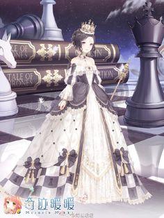 Dominic's Mother Queen of Hearts Kawaii Girl, Kawaii Anime, Vestidos Anime, Kleidung Design, Anime Girl Dress, Nikki Love, Anime Princess, Fantasy Dress, Beautiful Anime Girl