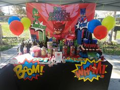 Pj Mask Party Decorations Pj Masks Birthday Party  Pj Mask Mask Party And Superhero Party