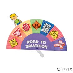 Where are you on the road to salvation? Move the child figure to match the lessons from Romans on this craft kit. Foam. 9 x 5. Makes 12. Includes paper plate ...