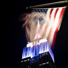 """A patriotic night near the Empire State Building."" by finalist Mark Jonas"