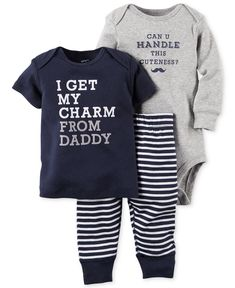 Baby Boy Clothes at Macy's come in a variety of styles and sizes. Shop Baby Boy Clothing and find the latest styles for your little one today. Outfits Niños, Baby Boy Outfits, Kids Outfits, Fashion Outfits, Baby Boy Fashion, Kids Fashion, Fashion Ideas, Niñas Carters Baby, Cute Baby Clothes