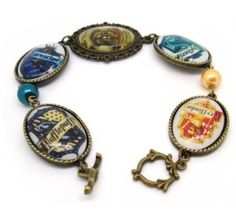 Tanboo Essentials Hogwarts Four College Badges Bracelet,with Tanboo Card and Annagle Necklace