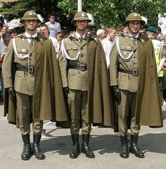 Modern-day Polish Army Podhale Rifles uniform.