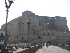 Castel Dell'Ovo (Castle of the Egg) built on a rocky island off Naples in the 12th Century by the Normans.