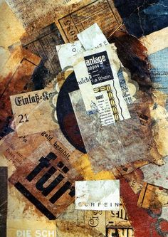 DADAISM - an art movement created after WWI that was born out of the negative reactions of the war; collages like above were a very popular form of expression (Kurt Schwitters, Merzgurnfleck, (The Twenties, Thirties, and WWII) Kurt Schwitters, Mixed Media Collage, Photomontage, A Level Art, Art, Collage Artists, Collage Art, Art Movement, Abstract