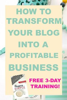 If you are a blogger or have even just thought about blogging, you will NOT want to miss it! This FREE 3-day video training will provide you with actionable steps to transforming your blog into a profitable business. Grab your spot now before they're all gone!