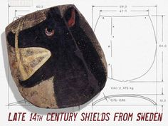two surviving shields, dated to the 1380s, from Kristdala Church in Småland, Sweden.