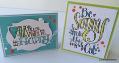 Two Summer Greeting Cards using Spellbinders Stamps! (start to finish)