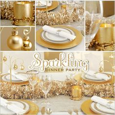 How to throw a gold-themed dinner party for New Year's Eve