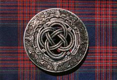 Stag and Thistle Knot Kilt Pin