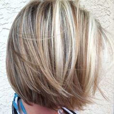 Hair Color Ideas for Short Hair-17 Love this color. Blonde highlights r a little too chunky | Look around!
