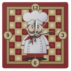 Italian chef clock
