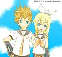 Roxas and namine as rin and Len